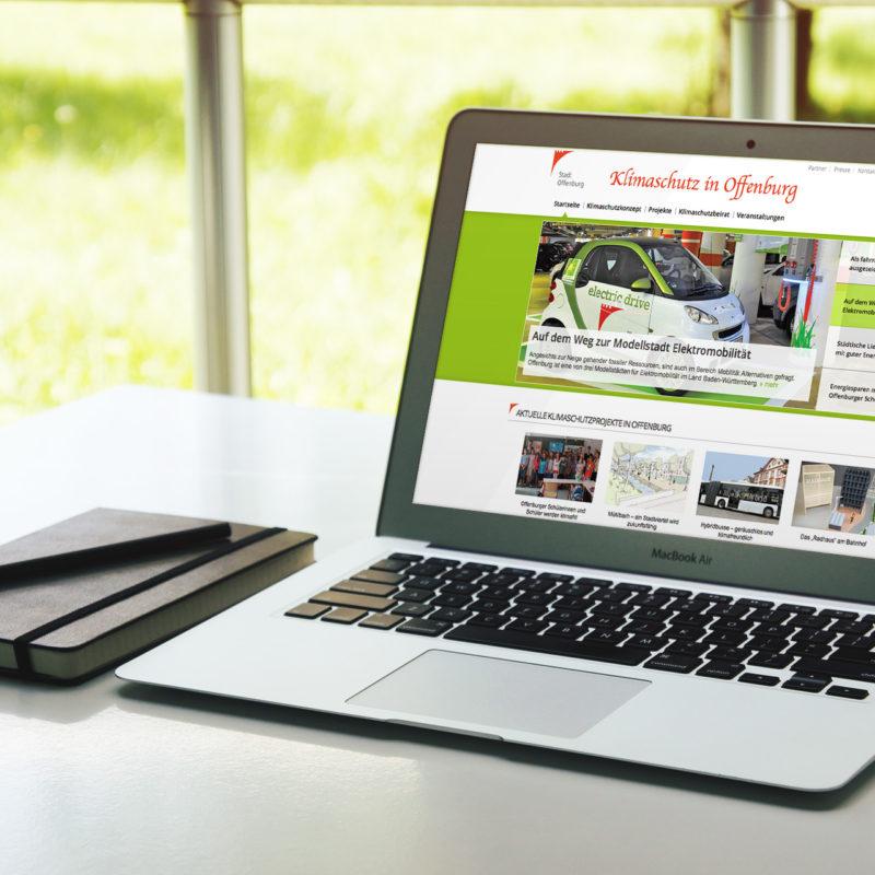 eCouleur Referenz nachhaltiges Design Klimaschutz Offenburg Website