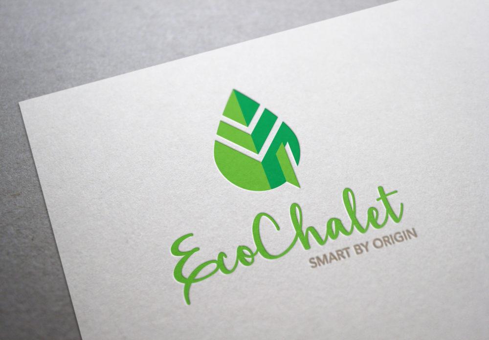 eCouleur Referenz nachhaltiges Design EcoChalet Corporate Design Logo