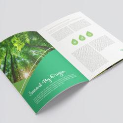 eCouleur Referenz nachhaltiges Design EcoChalet Printdesign Broschuere