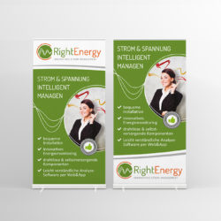 eCouleur Referenz nachhaltiges Design RightEnergy Printdesign roll-up Banner
