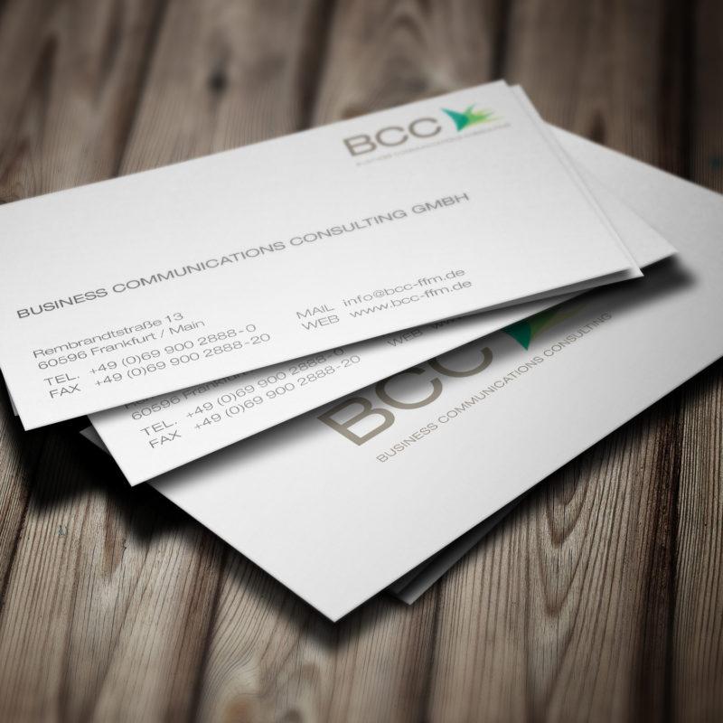 eCouleur Referenz nachhaltiges Design BCC Visitenkarten