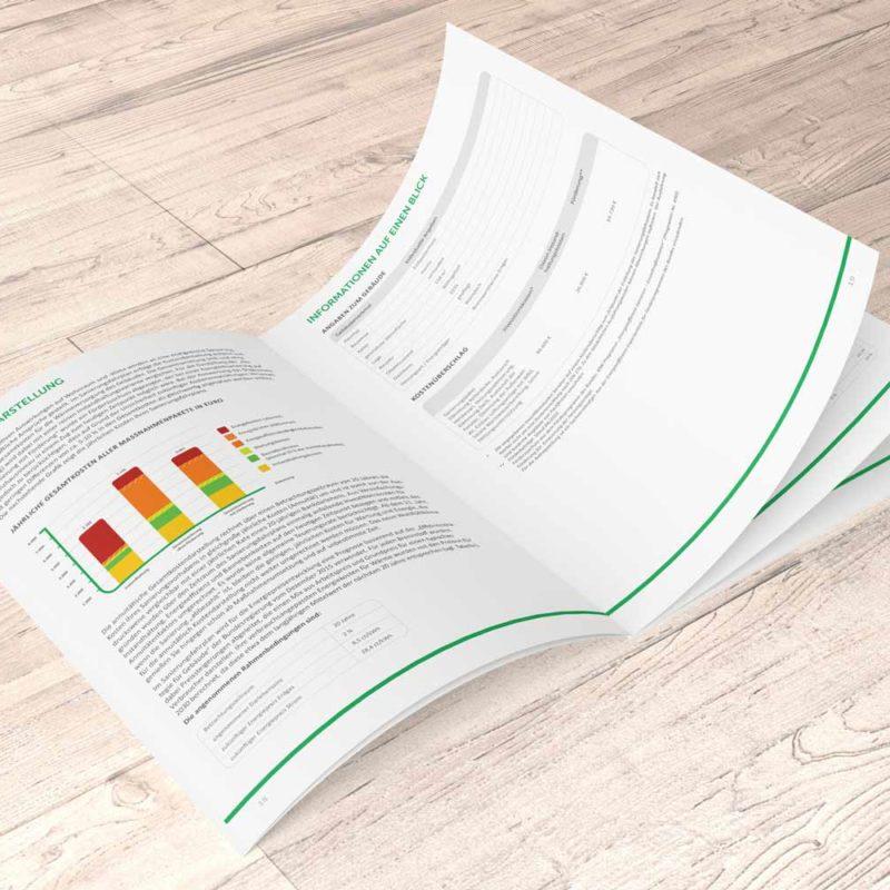 eCouleur Referenz nachhaltiges Design DENA Printdesign iSFP-Fahrplan Kurzanleitung