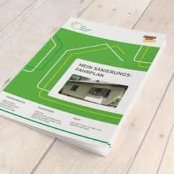 eCouleur Referenz nachhaltiges Design DENA Printdesign iSFP-Fahrplan Titel-Broschuere
