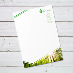 eCouleur Referenz nachhaltiges Design EcoChalet Printdesign Briefbogen