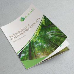 eCouleur Referenz nachhaltiges Design EcoChalet Printdesign Broschuere Titel
