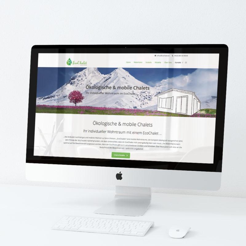 eCouleur Referenz nachhaltiges Design EcoChalet Webdesign Wordpress