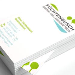 eCouleur Referenz nachhaltiges Design Galabau Fuechtenbusch Printdesign Visitenkarten