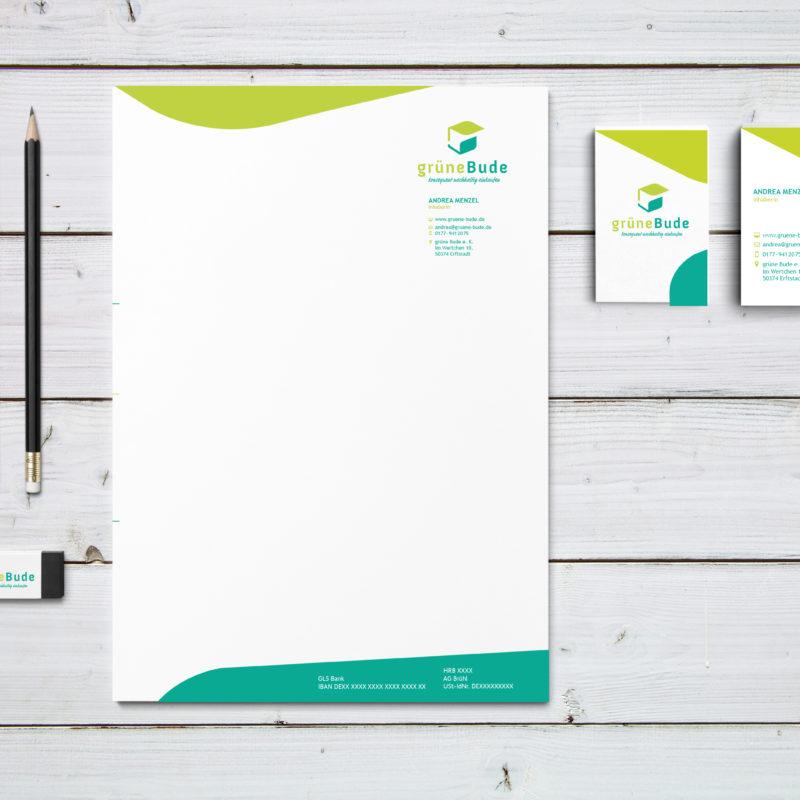 eCouleur Referenz nachhaltiges Design Grüne Bude Printdesign Geschaeftsausstattung