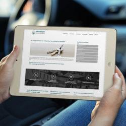 eCouleur Referenz nachhaltiges Design Grundstein Immobilien responsive Webdesign iPad