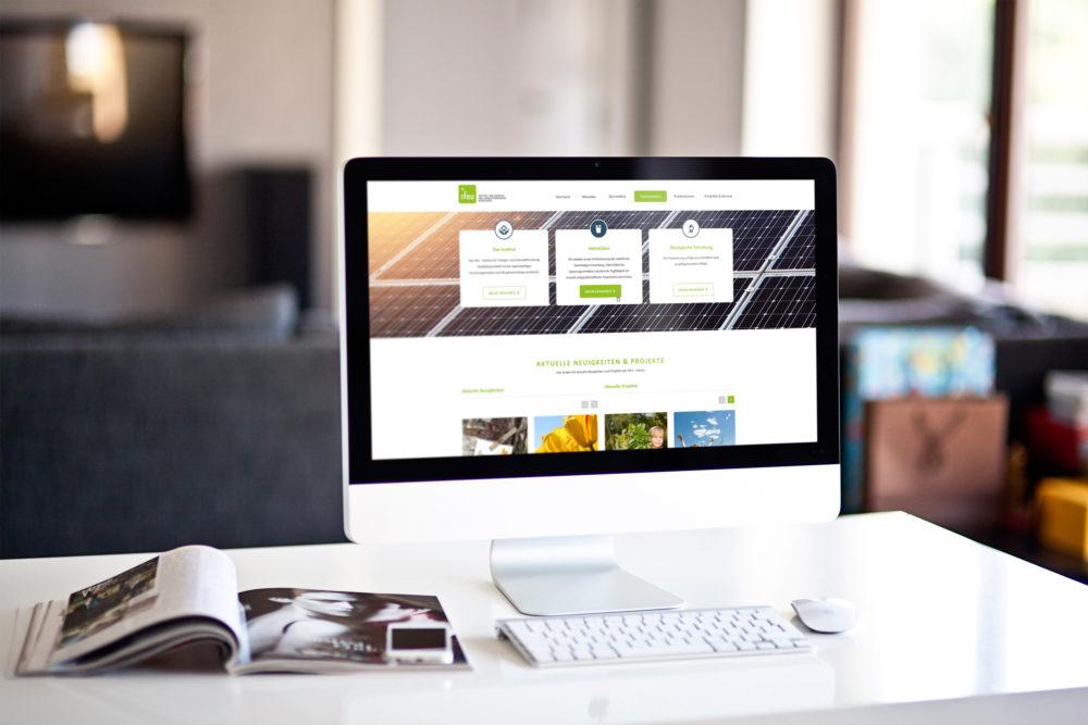 eCouleur Referenz nachhaltiges Design ifeu responsive Webdesign Wordpress iMac