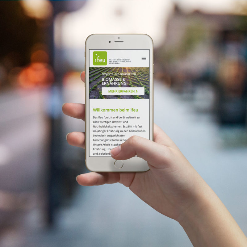 eCouleur Referenz nachhaltiges Design ifeu responsive Webdesign Wordpress iPhone