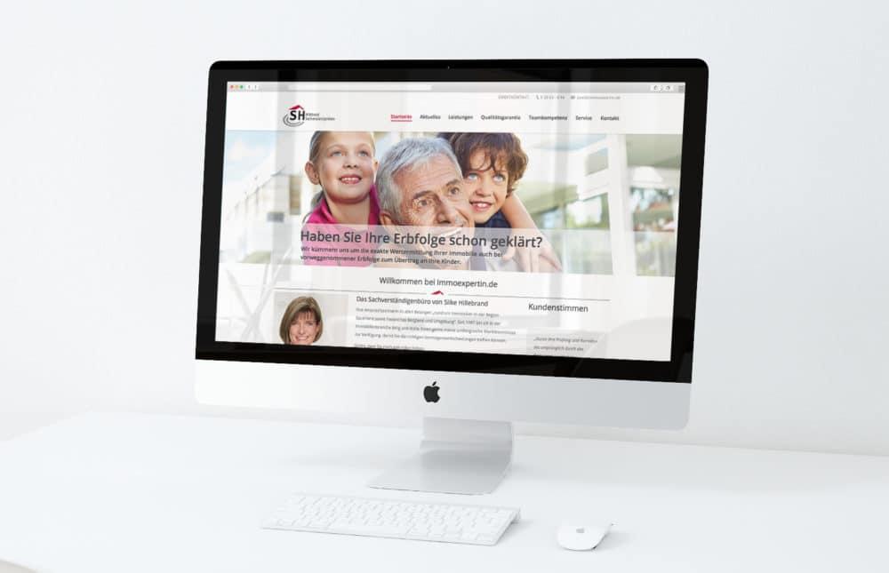 eCouleur Referenz nachhaltiges Design Immoexpertin Webdesign