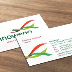 eCouleur Referenz nachhaltiges Design Innowego Printdesign Visitenkarten