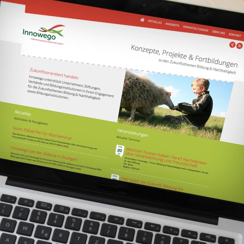 eCouleur Referenz nachhaltiges Design Innowego Webdesign