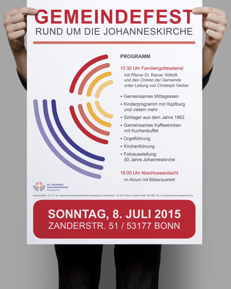 eCouleur Referenz nachhaltiges Design Johannes Kirchengemeinde Printdesign Plakat