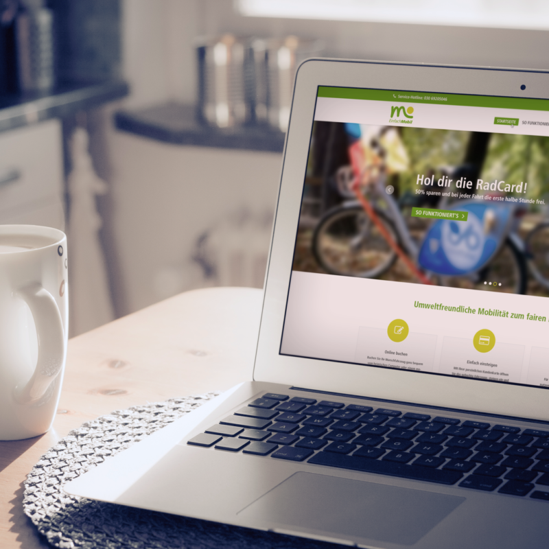 eCouleur Referenz nachhaltiges Design Mobil-in-Offenburg Webdesign Laptop