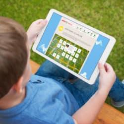 eCouleur Referenz nachhaltiges Design Najuversum responsive Webdesign Wordpress Gedächtnisspiel Tablet