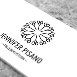 eCouleur Referenz nachhaltiges Design Pisano Frieseurin Corporate Design Logo