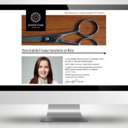 eCouleur Referenz nachhaltiges Design Pisano Frieseurin Corporate Design Webdesign