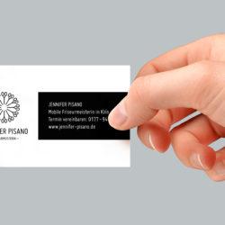 eCouleur Referenz nachhaltiges Design Pisano Frieseurin Printdesign Visitenkarten