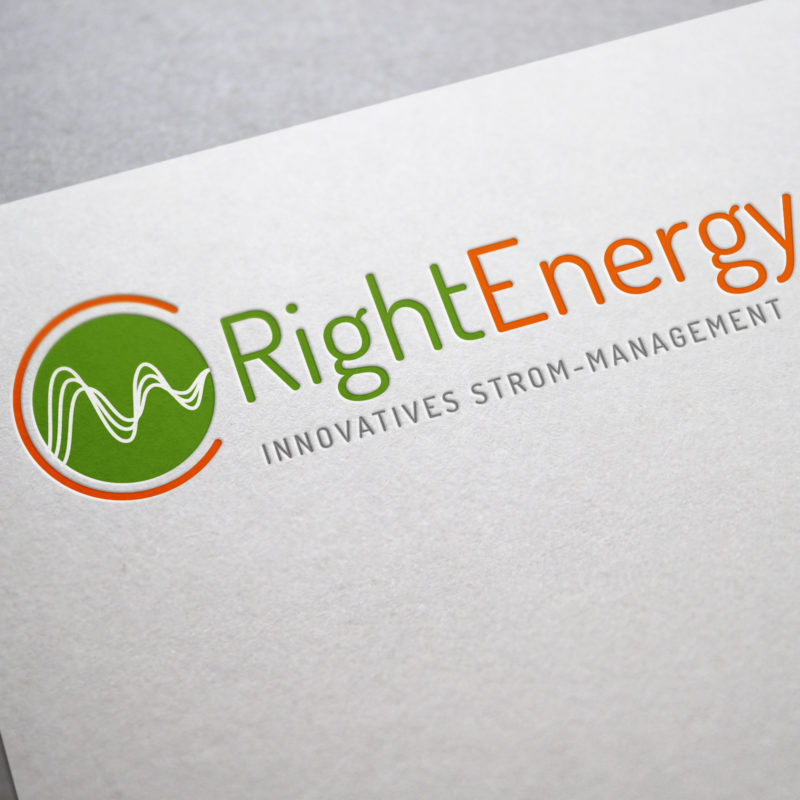 eCouleur Referenz nachhaltiges Design RightEnergy Corporate Design Logo