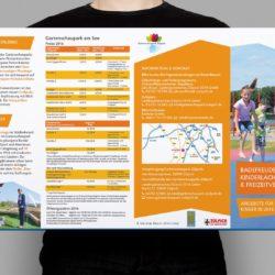 eCouleur Referenz nachhaltiges Design Seepark Zülpich Printdesign 8-seitiger Flyer