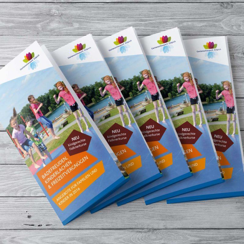 eCouleur Referenz nachhaltiges Design Seepark Zülpich Printdesign Flyer