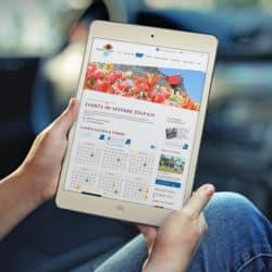 eCouleur Referenz nachhaltiges Design Seepark Zülpich Webdesign iPad