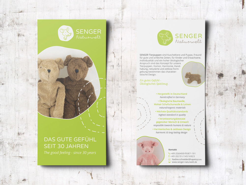 eCouleur Referenz nachhaltiges Design Senger Naturwelt Flyer