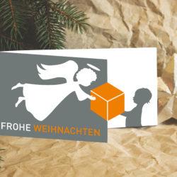 eCouleur Referenz nachhaltiges Design systemtrans gmbh Printdesign Weihnachtskarte