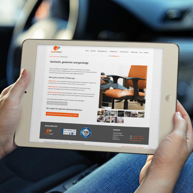 eCouleur Referenz nachhaltiges Design systemtrans gmbh Webdesign