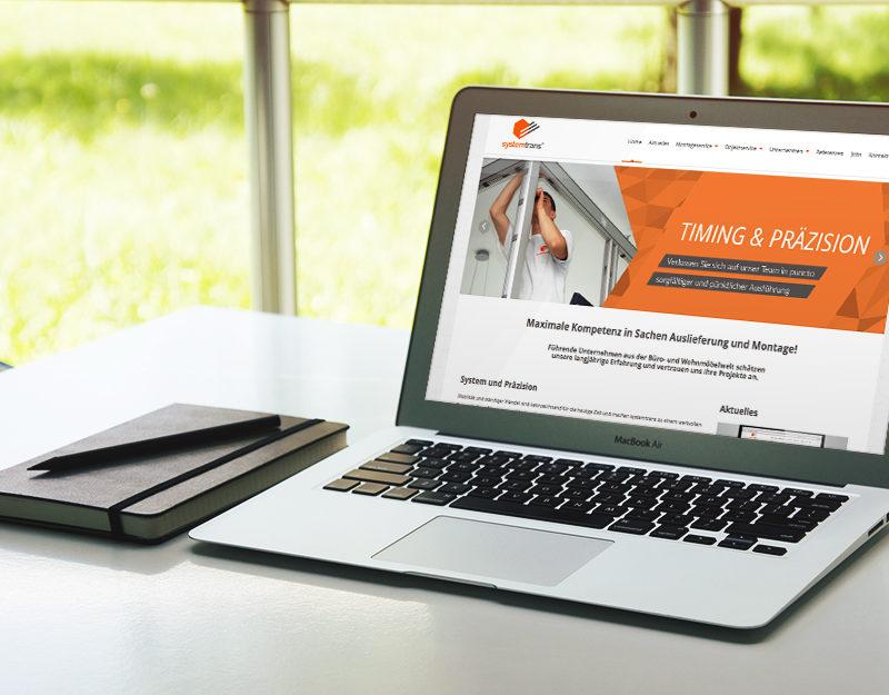eCouleur Referenz nachhaltiges Design systemtrans gmbh Webdesign MacBook