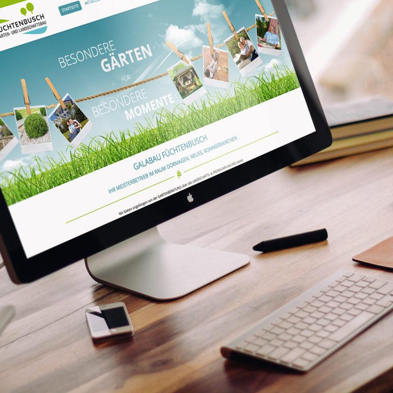 eCouleur Referenz nachhaltiges Design Galabau Fuechtenbusch Webdesign