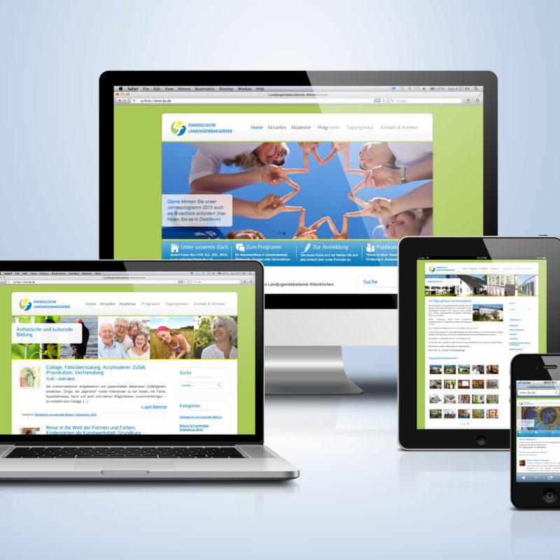Referenz eCouleur Ev Landjugendakademie Webdesign